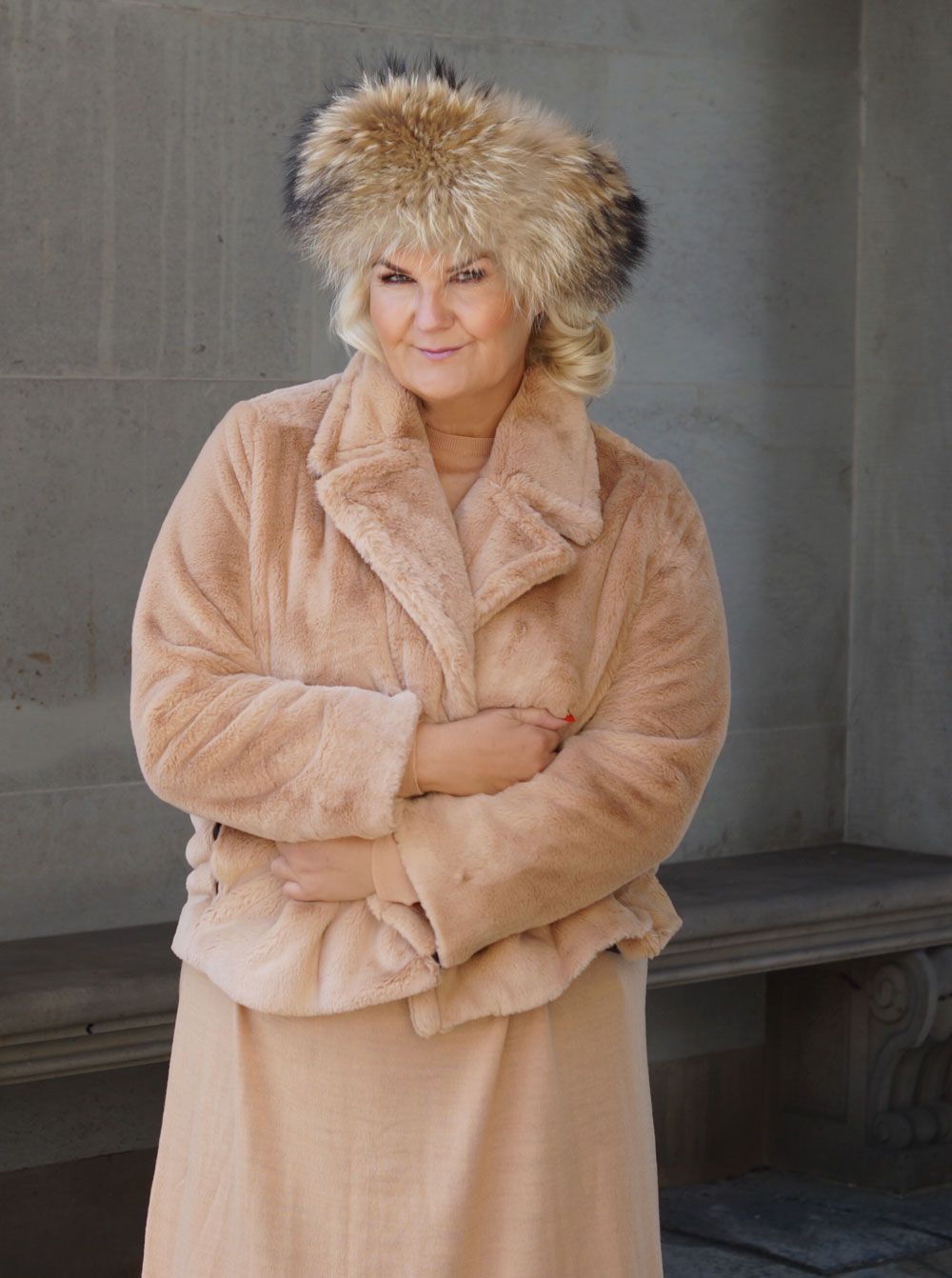 Fake fur jakke, kort 178A 1067